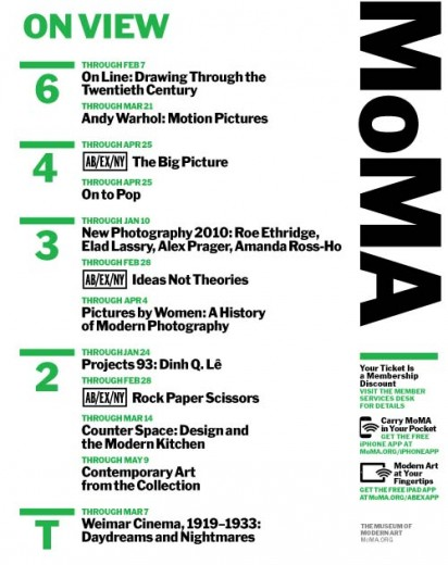 Fig 8: MoMA signage on view in the elevators