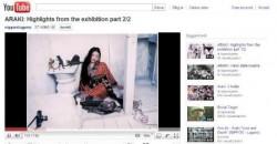 "Fig 2: Nippon Multimedia, ""Araki. Love and Death"" exhibition on Youtube"