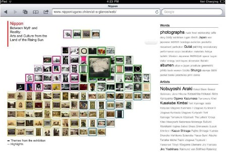 """Fig 7: The 'mosaic' of """"Nippon at a glance"""" over iPad"""