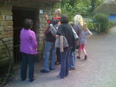 Fig 1: Visitors scanning QR codes for memories at the farmhouses