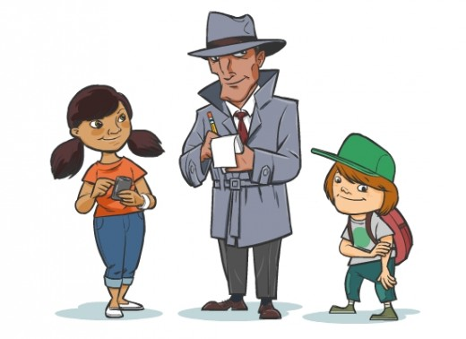 Fig 1: The three new characters developed for the kids' guide
