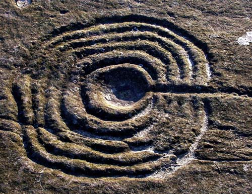Figure 1. Typical motif at Weetwood Moor, Northumberland