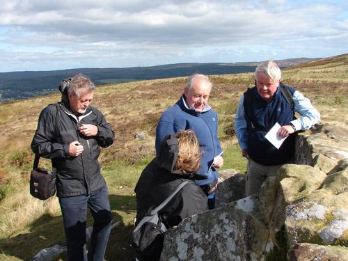 Figure 6. Conversation with specialist, Lordenshaw site visit (Rothbury, Workshop 2)