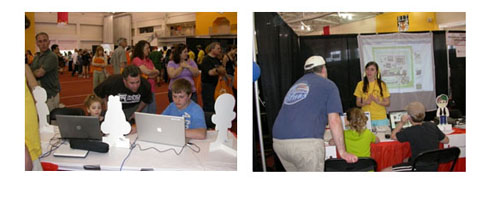 Fig 1: myMuseum prototype demo at Imagine RIT, spring of 2010