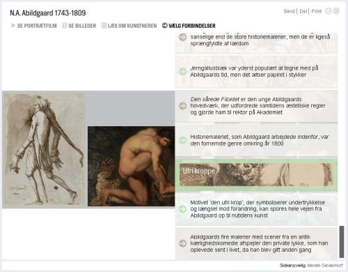 Fig 2: Screenshot from the presentation of Abildgaard in Art Stories