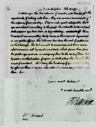 Thomas Jefferson's Letter