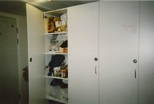 Fig 22: The homeless Csaba's 'home' in a shelter in northwestern Copenhagen, 2009. Csaba used a disposable camera to document places of importance to him.