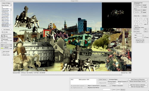 Fig 7: Screen shot of custom 3D collage editor UI
