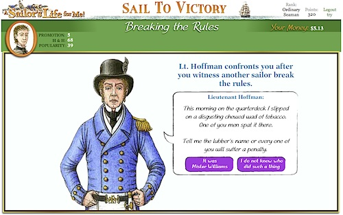 Fig 5: A decision in Sail to Victory game