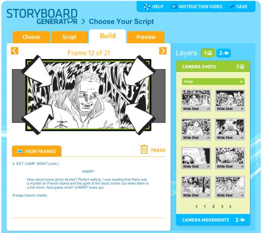 Storyboard For Website Design: ACMI Generator - Storyboard Generator