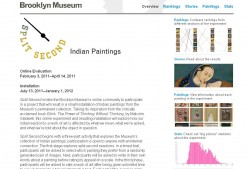 Split Second Indian Paintings website: The Split Second website hosted the online activity and the project's findings.