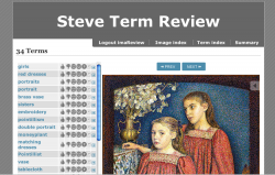 steve term review tool: during th steve.museum research project, each tag is looked at by museum staff, and evaluated.