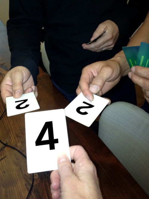 Figure 3: Playing planning poker.